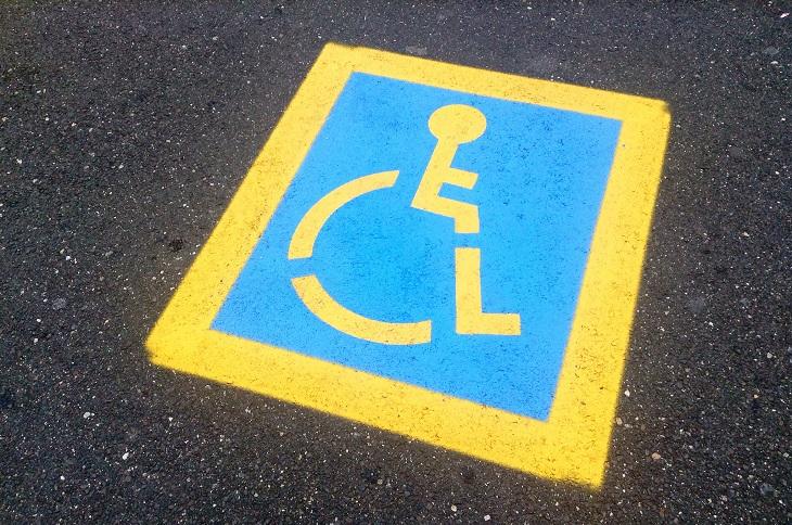 Dr. Handicap - yellow handicap parking place